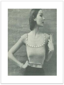 PATTERN #2456 SCOOP-NECK BLOUSE VINTAGE KNITTING