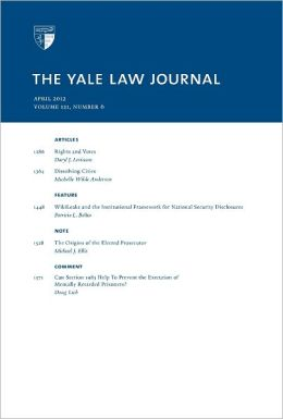 Yale Law Journal: Volume 121, Number 6 - April 2012