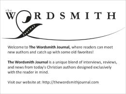 March 2012 Issue; The Wordsmith Journal