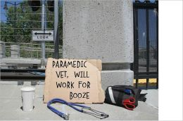 Paramedic vet, will work for booze