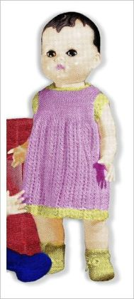 Dress & Booties Knitting Patterns for a 16-Inch Doll (#DOL0113)