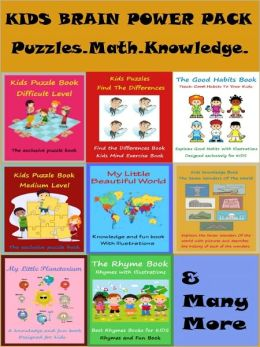 Kids Brain Power Pack : Power Pack of Puzzles Math Good Habits And Knowledge