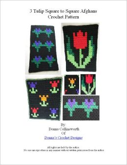 3 Tulips Designs For Afghans Crochet Pattern