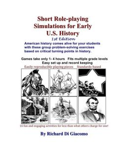 Short Role-playing Simulations for Early US History