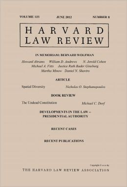 Harvard Law Review: Volume 125, Number 8 - June 2012