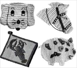 Animal Potholders for Crochet