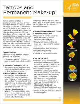 Tattoos and Permanent Make-up
