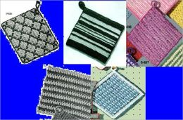Simple, diseños básicos de soporte de olla de ganchillo