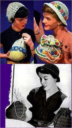 4 SAC À Crochet et Crochet Patterns de chapeau
