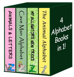 4 ALPHABET BOOKS IN 1! (Learn the Alphabet, Upper Case Letters, Lower Case Letters, The Silly Fish Alphabet)