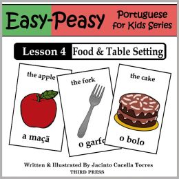 Portuguese Lesson 4: Food & Table Setting (Learn Portuguese Flash Cards)