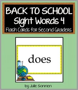 Back to School Sight Words 4 - Flash Cards for Second Graders