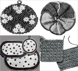 Divertido agarraderas a Crochet