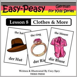 German Lesson 8: Clothes, Shoes, Jewelry & Accessories (Learn German Flash Cards)