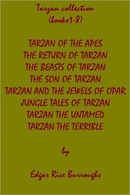Tarzan books 1-8, superior formatting & chapter navigation