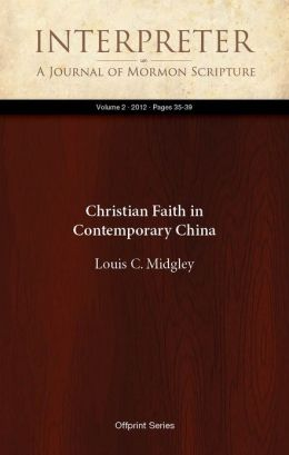 Christian Faith in Contemporary China
