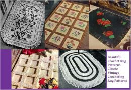 Beautiful Crochet Rug Patterns – Classic Vintage Crocheting Rug Patterns