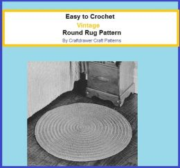 Easy to Crochet Vintage Round Rug Crochet Pattern