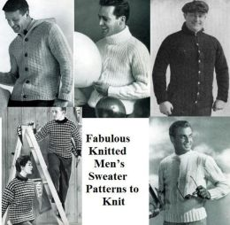 Fabulous Knitted Men's Sweater Patterns to Knit