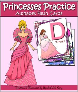 Princesses Practice the Alphabet with Flash Cards