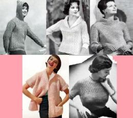Vintage Stylish Knitting Patterns for Women's Sweaters