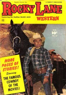Rocky Lane Number 47 Western Comic Book
