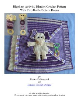 Elephant Activity Blanket For Baby Crochet Pattern