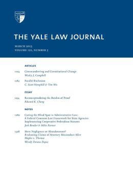 Yale Law Journal: Volume 122, Number 5 - March 2013