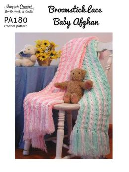 Crochet Pattern Broomstick Lace Baby Afghan PA180-R