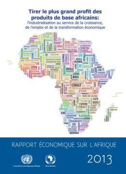 Rapport Économique sur l'Afrique 2013