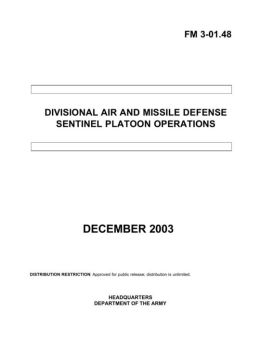 Divisional Air and Missile Defense Sentinel Platoon Operations FM 3-01.48