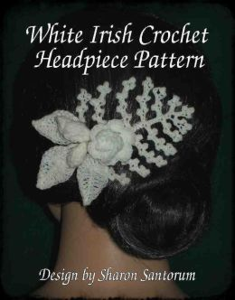 White Irish Crochet Headpiece Pattern