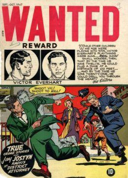 Wanted Comics Number 9 Crime Comic Book