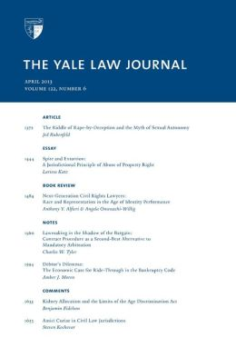 Yale Law Journal: Volume 122, Number 6 - April 2013