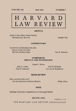 Harvard Law Review: Volume 126, Number 7 - May 2013