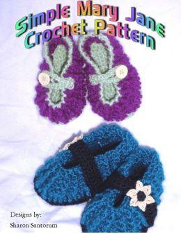 Simple Mary Jane Crochet Pattern