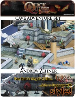 PRINTABLE 3D Dungeon Tiles: Master DM set - for Dungeons and Dragons, D&D, Gurps, Warhammer, or other RPG