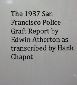 The 1937 San Francisco Police Graft Report by Edwin Atherton