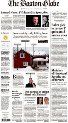 Boston Globe - 02/28/15