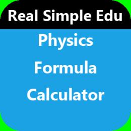 Physics Formula Calculator