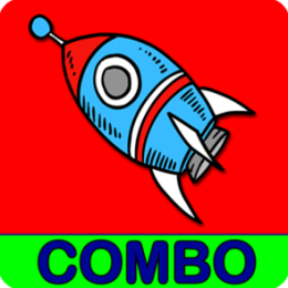 Adventures Outer Space Math & Spelling Combo Games