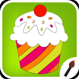Cup Cake Coloring Book