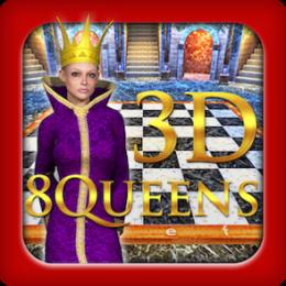 8 Queens 3D