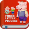 3 Little Piggies & the Big Bad Wolf - Interactive Story Book for Kids with Animations