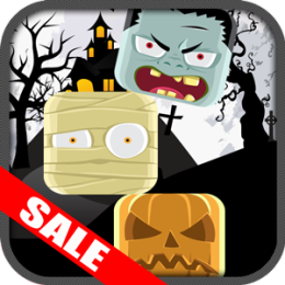Halloween Monsters Tower Stacker Kids Game