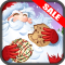 Santas Christmas Cookies Four In A Line Row Kids Game