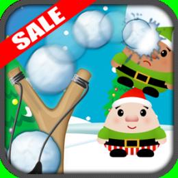 Christmas Elf Slingshot Snowball Knockdown Kids Game