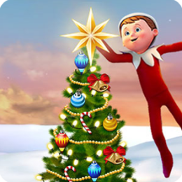Decorate the Christmas tree with Elf on the Shelf , Christmas Game