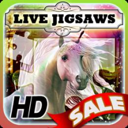 Live Jigsaw - Enchanted Garden of the Unicorns