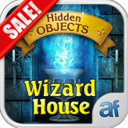 Hidden Objects Wizard House & 3 puzzle games